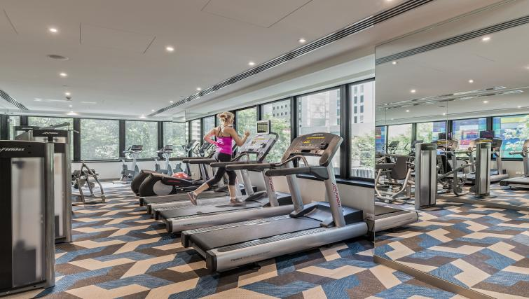 Fitness centre at Brisbane Capri by Fraser - Citybase Apartments