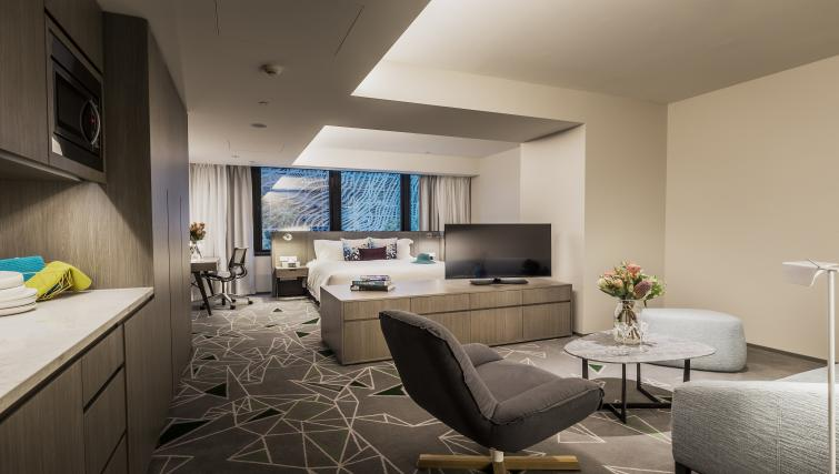 Living room at Brisbane Capri by Fraser - Citybase Apartments