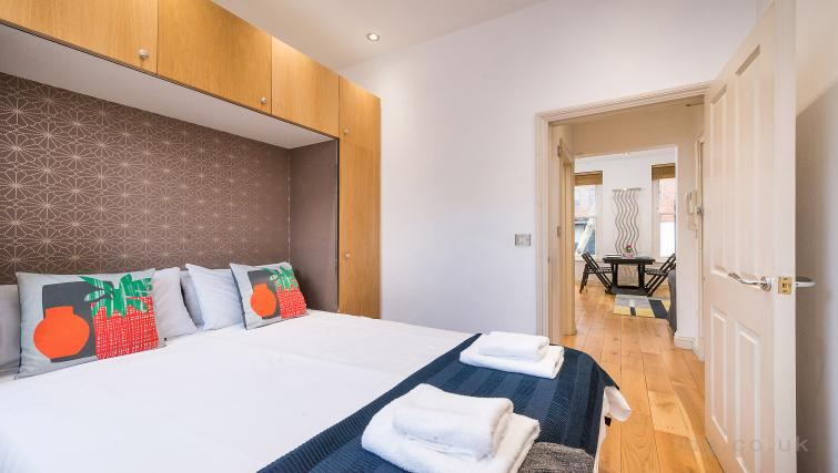 Double bed at Theobalds Road Apartments - Citybase Apartments