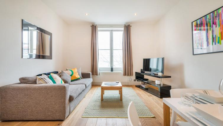 Living room at Theobalds Road Apartment - Citybase Apartments