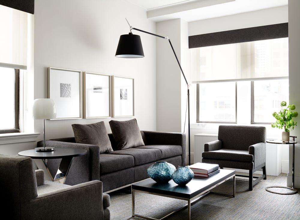 Sofa at AKA Central Park, Midtown East, New York - Citybase Apartments