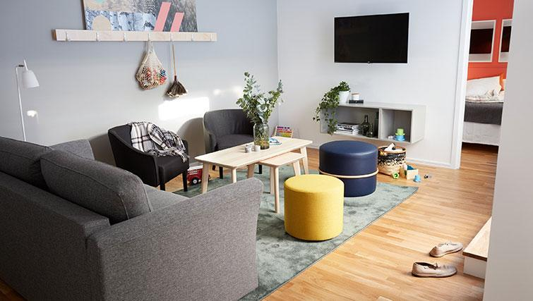 Lounge in 3 bed at Forenom Aparthotel Stockholm Kista - Citybase Apartments