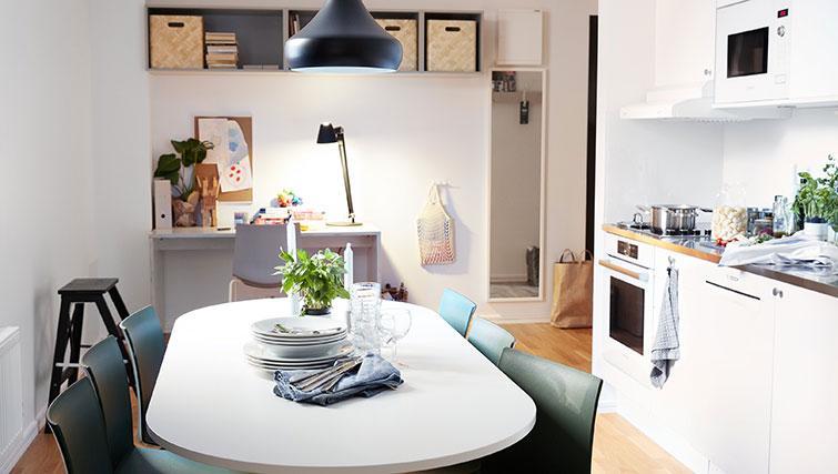 Dining table at Forenom Aparthotel Stockholm Kista - Citybase Apartments