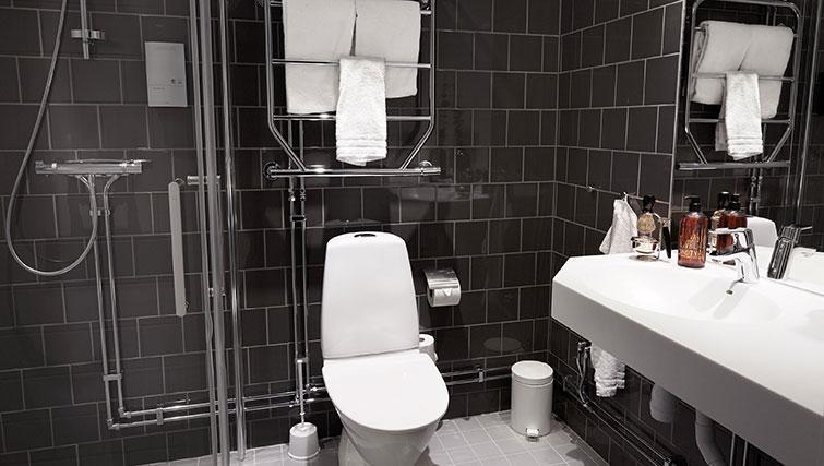Bathroom at Forenom Aparthotel Stockholm Kista - Citybase Apartments