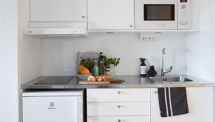 Kitchen at Forenom Aparthotel Stockholm Kista - Citybase Apartments