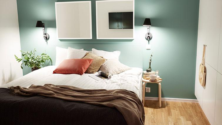 Double bed at Forenom Aparthotel Stockholm Kista - Citybase Apartments