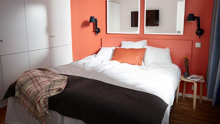 Double bedroom at Forenom Aparthotel Stockholm Kista - Citybase Apartments
