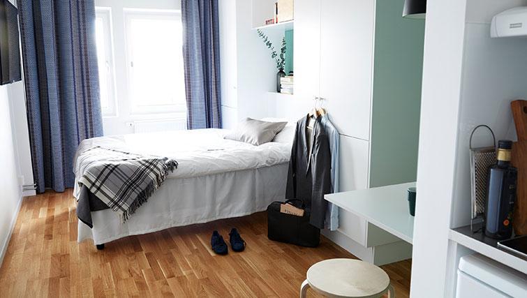 Studio bed at Forenom Aparthotel Stockholm Kista - Citybase Apartments