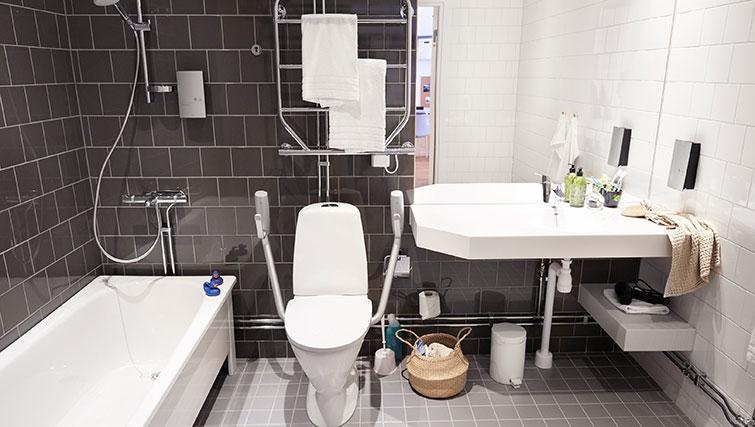 Shower at Forenom Aparthotel Stockholm Kista - Citybase Apartments
