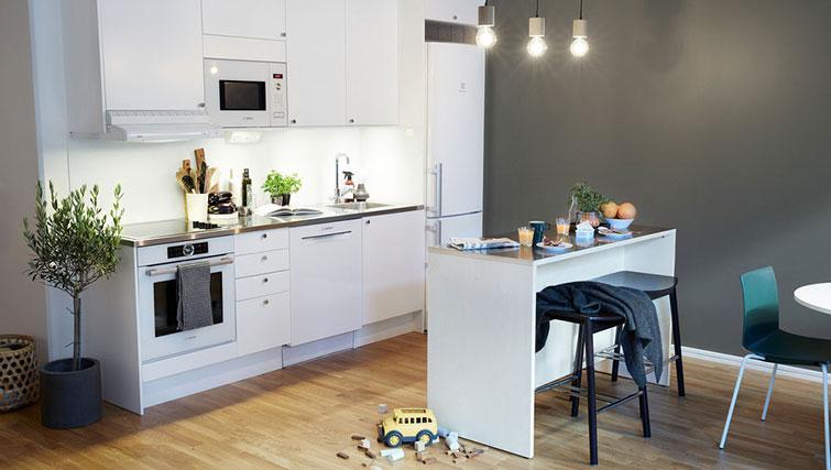 Equipped kitchen at Forenom Aparthotel Stockholm Kista - Citybase Apartments