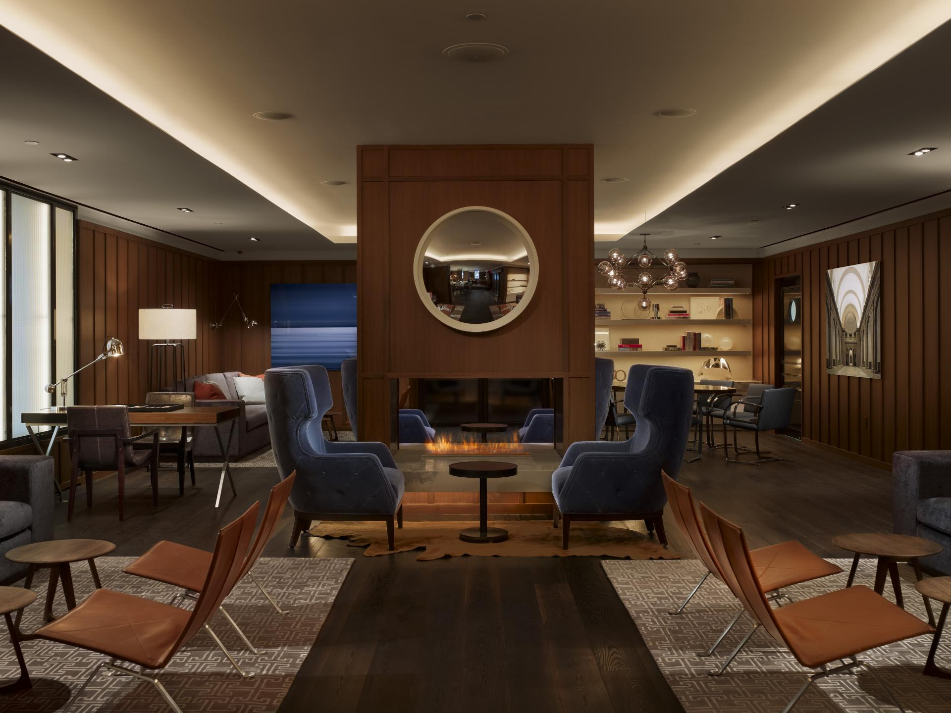 Lounge at AKA Sutton Place, Midtown East, New York - Citybase Apartments