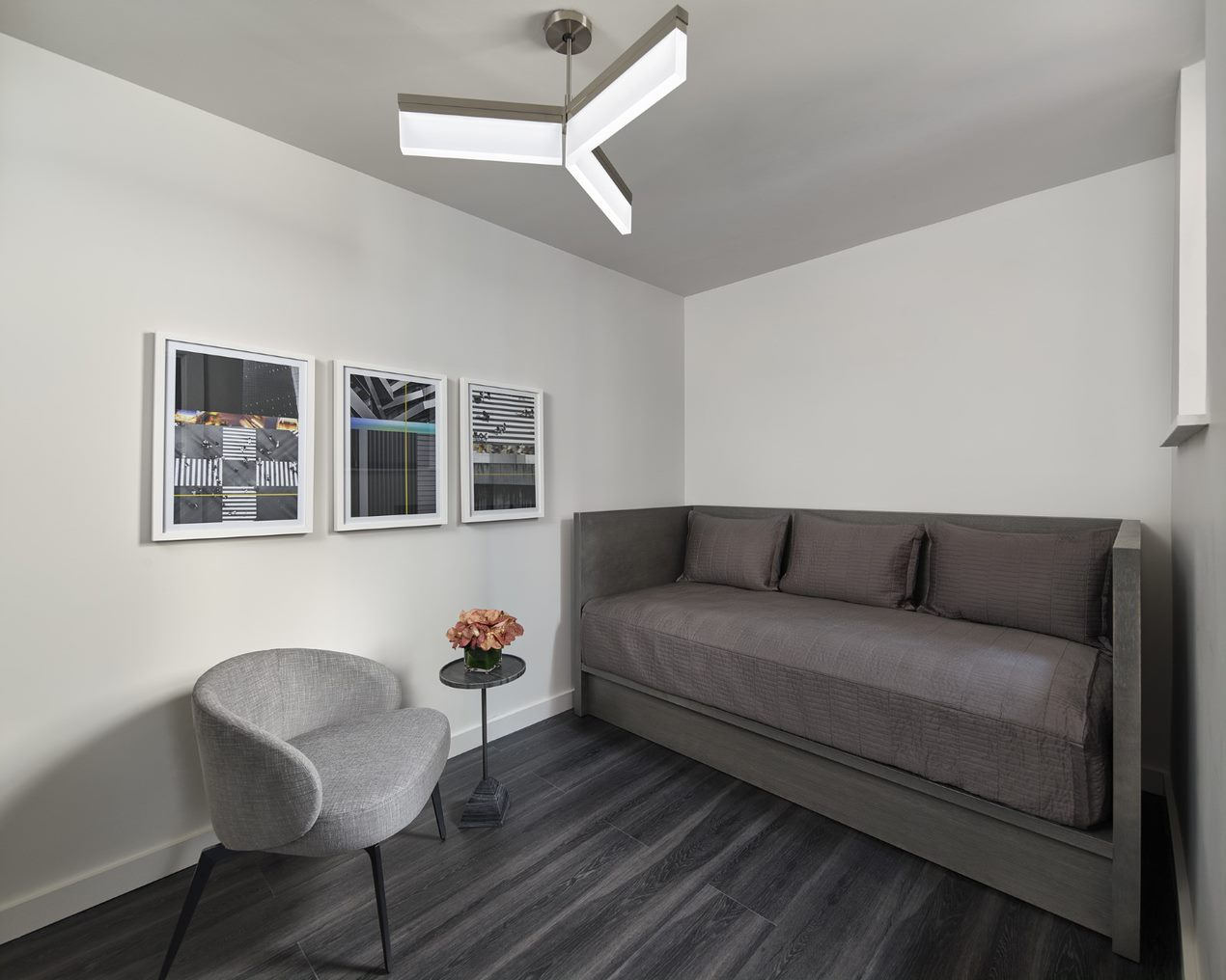 Living room at AKA Times Square, Times Square, New York - Citybase Apartments