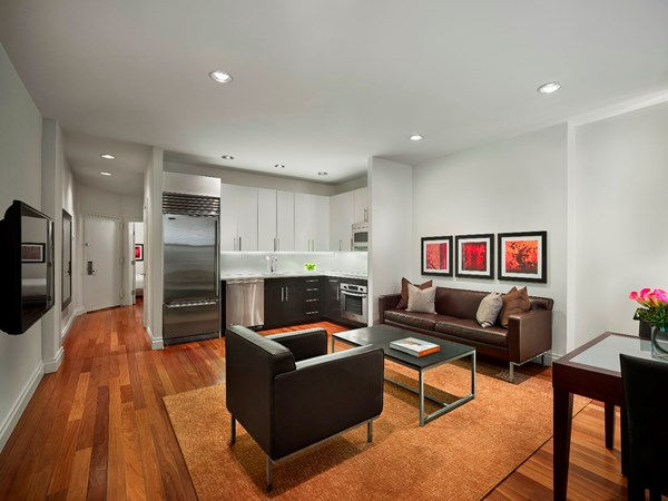 Kitchen at AKA Times Square, Times Square, New York - Citybase Apartments