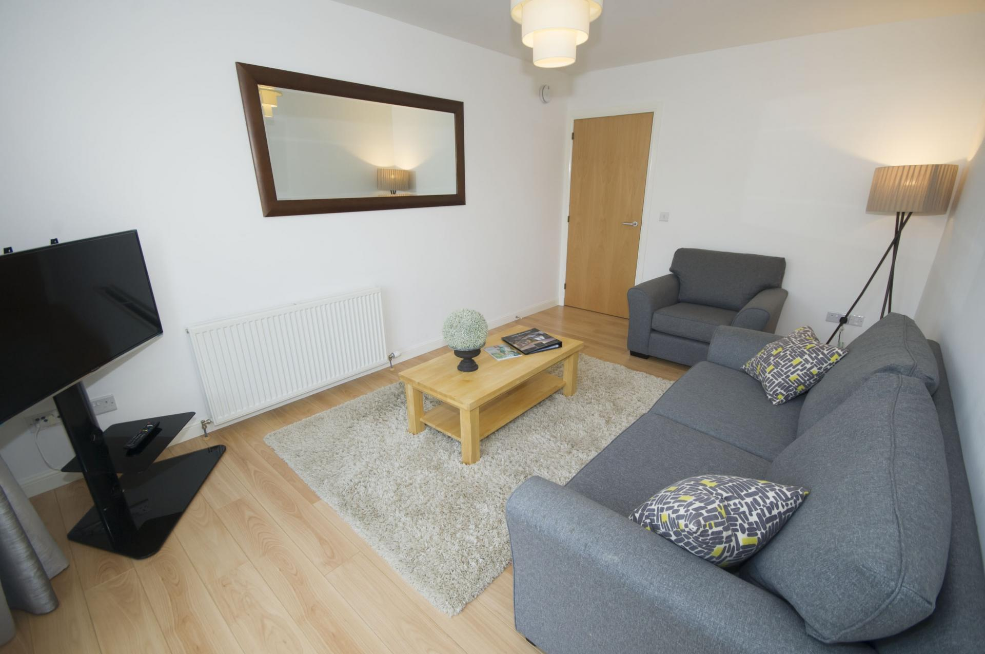 Living room at Portland Street Aberdeen Apartments - Citybase Apartments