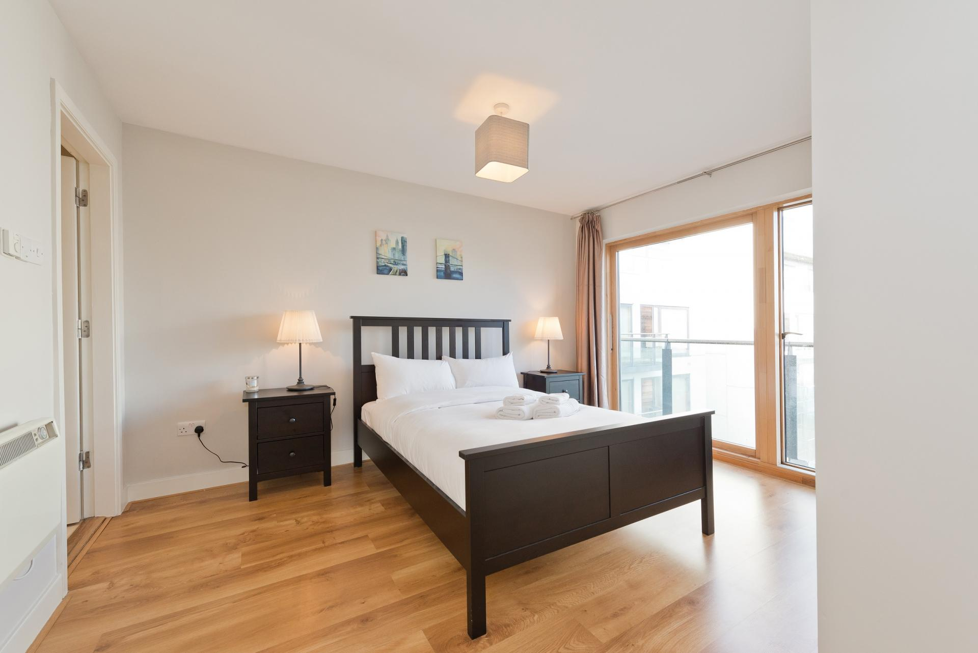Master bedroom at Grand Canal Square 16 Apartment - Citybase Apartments