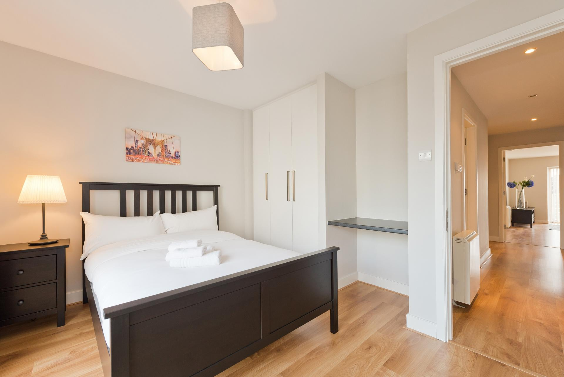 Guest bedroom at Grand Canal Square 16 Apartment, Beggar's Bush, Dublin - Citybase Apartments