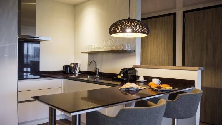 Kitchen at the Adagio Amsterdam City South Apartments - Citybase Apartments