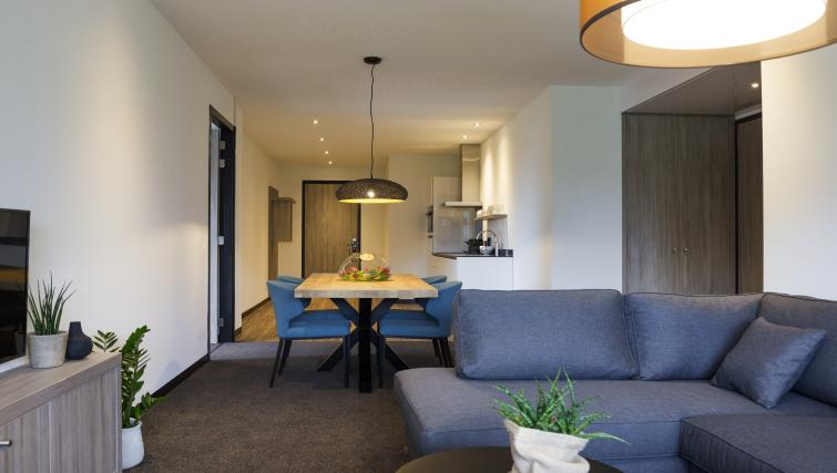 Living area at the Adagio Amsterdam City South Apartments - Citybase Apartments