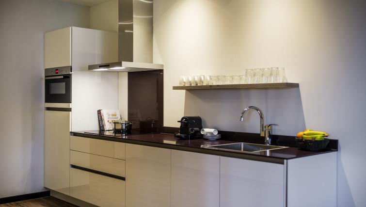 kitchen decor at the Adagio Amsterdam City South Apartments - Citybase Apartments