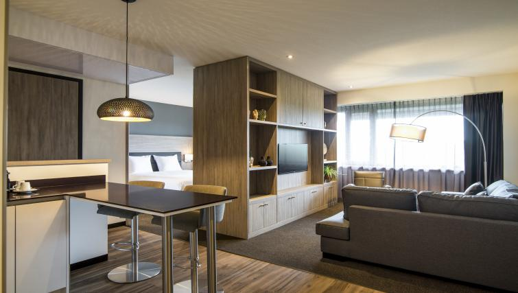 Living room at the Adagio Amsterdam City South Apartments - Citybase Apartments
