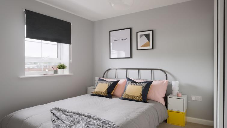 Double bed at Coventry Scandi House - Citybase Apartments