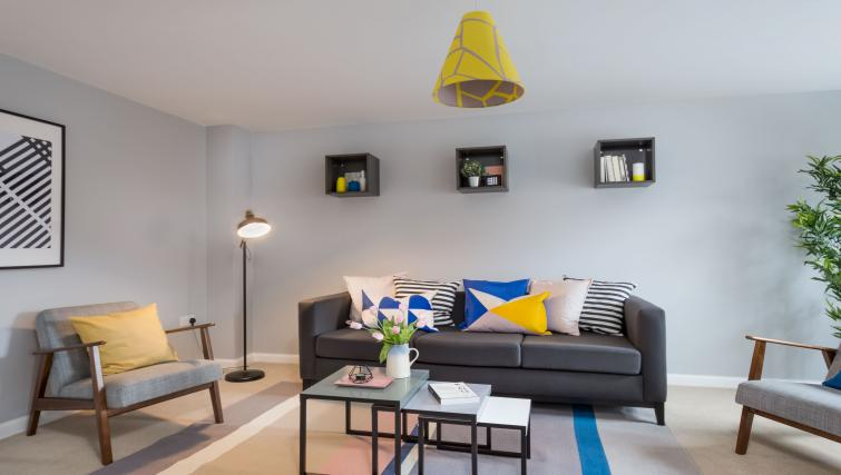Living room at Coventry Scandi House - Citybase Apartments