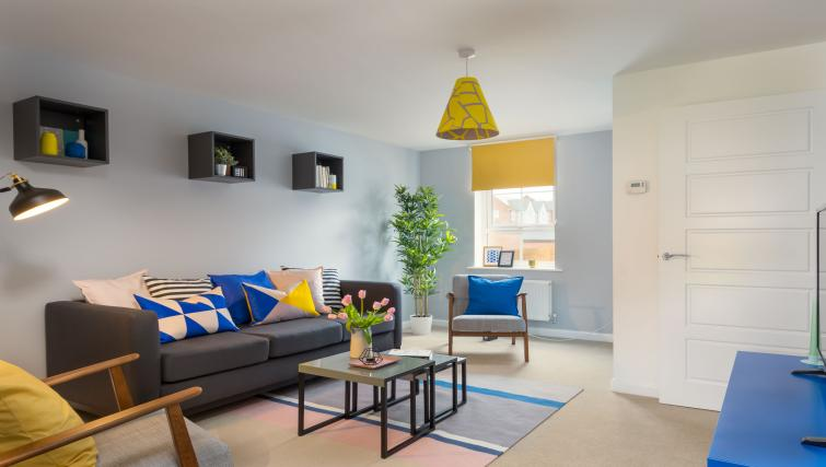 Spacious living area at Coventry Scandi House - Citybase Apartments