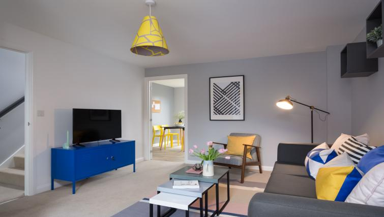 TV at Coventry Scandi House - Citybase Apartments