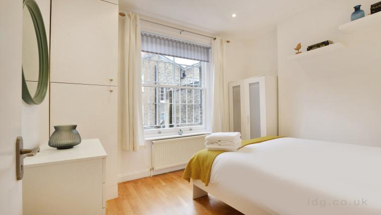 Bedroom at Great Titchfield Street Apartment - Citybase Apartments