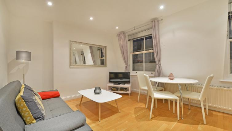 Dining area at Great Titchfield Street Apartment - Citybase Apartments