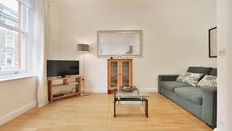 Large living area at Great Titchfield Street Apartment - Citybase Apartments