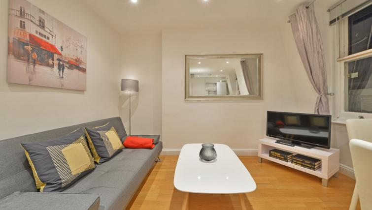 Living area at Great Titchfield Street Apartment - Citybase Apartments