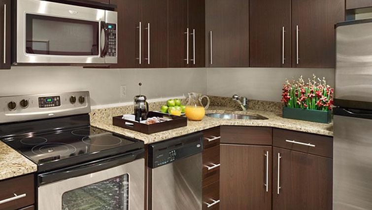 Kitchen at AKA Rittenhouse Square - Citybase Apartments