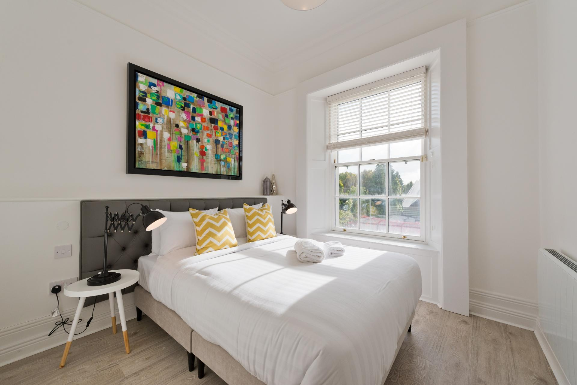 Bed at Suesey Place Apartments, Ballsbridge, Dublin - Citybase Apartments