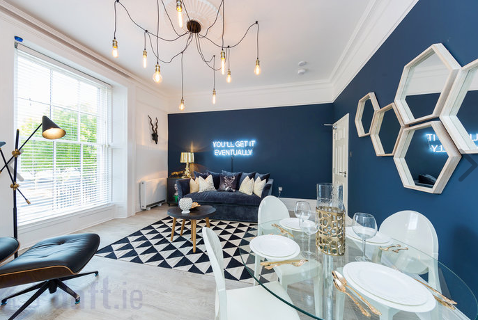 Lounge at Suesey Place Apartments, Ballsbridge, Dublin - Citybase Apartments