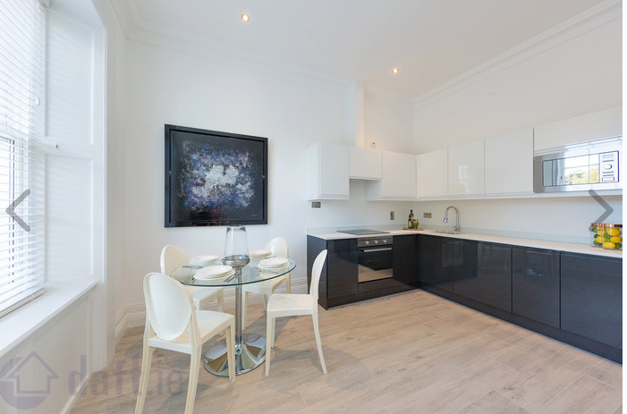 Equipped kitchen at Suesey Place Apartments, Ballsbridge, Dublin - Citybase Apartments