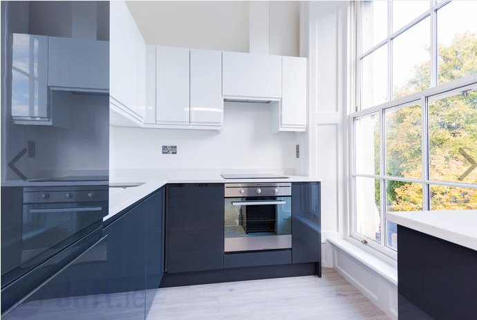 Modern kitchen at Suesey Place Apartments, Ballsbridge, Dublin - Citybase Apartments