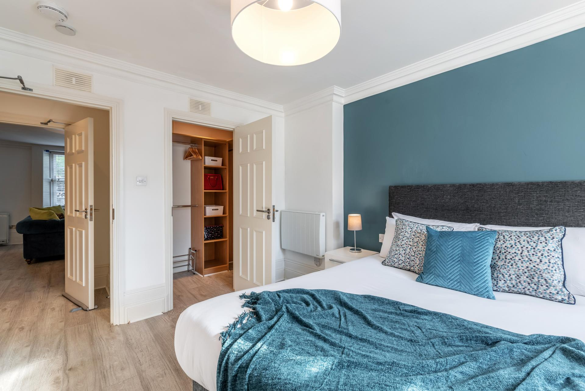 Spacious bedroom at Suesey Place Apartments, Ballsbridge, Dublin - Citybase Apartments