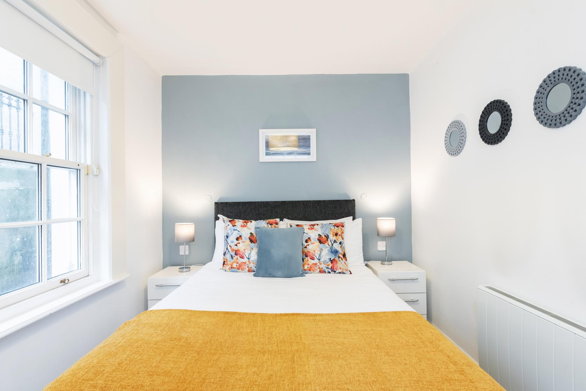 Bright bedroom at Suesey Place Apartments, Ballsbridge, Dublin - Citybase Apartments