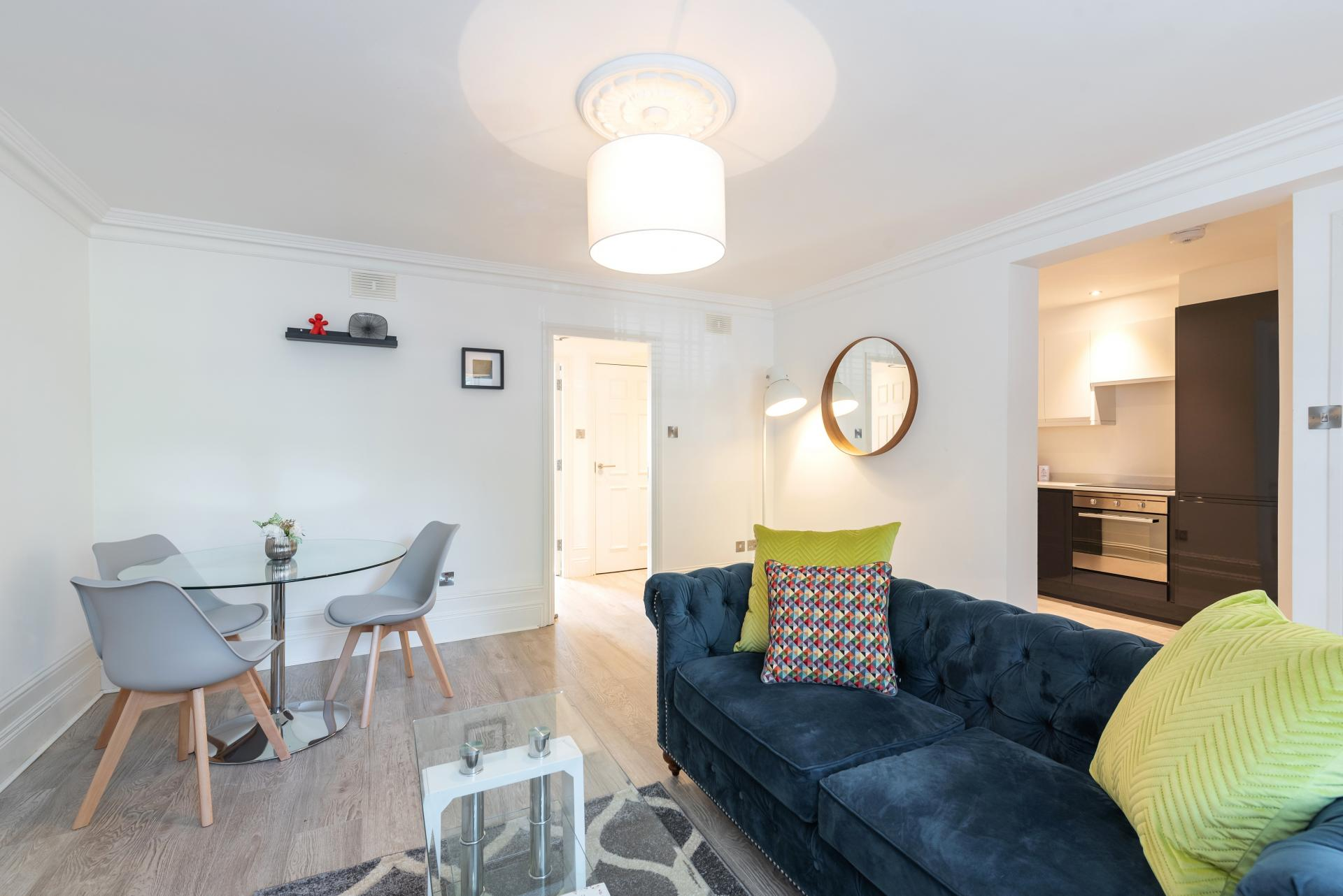 Sofa at Suesey Place Apartments, Ballsbridge, Dublin - Citybase Apartments