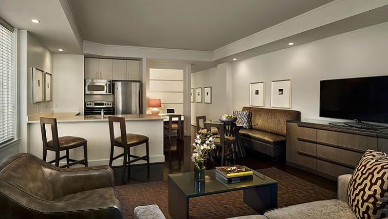 Living area in AKA White House - Citybase Apartments