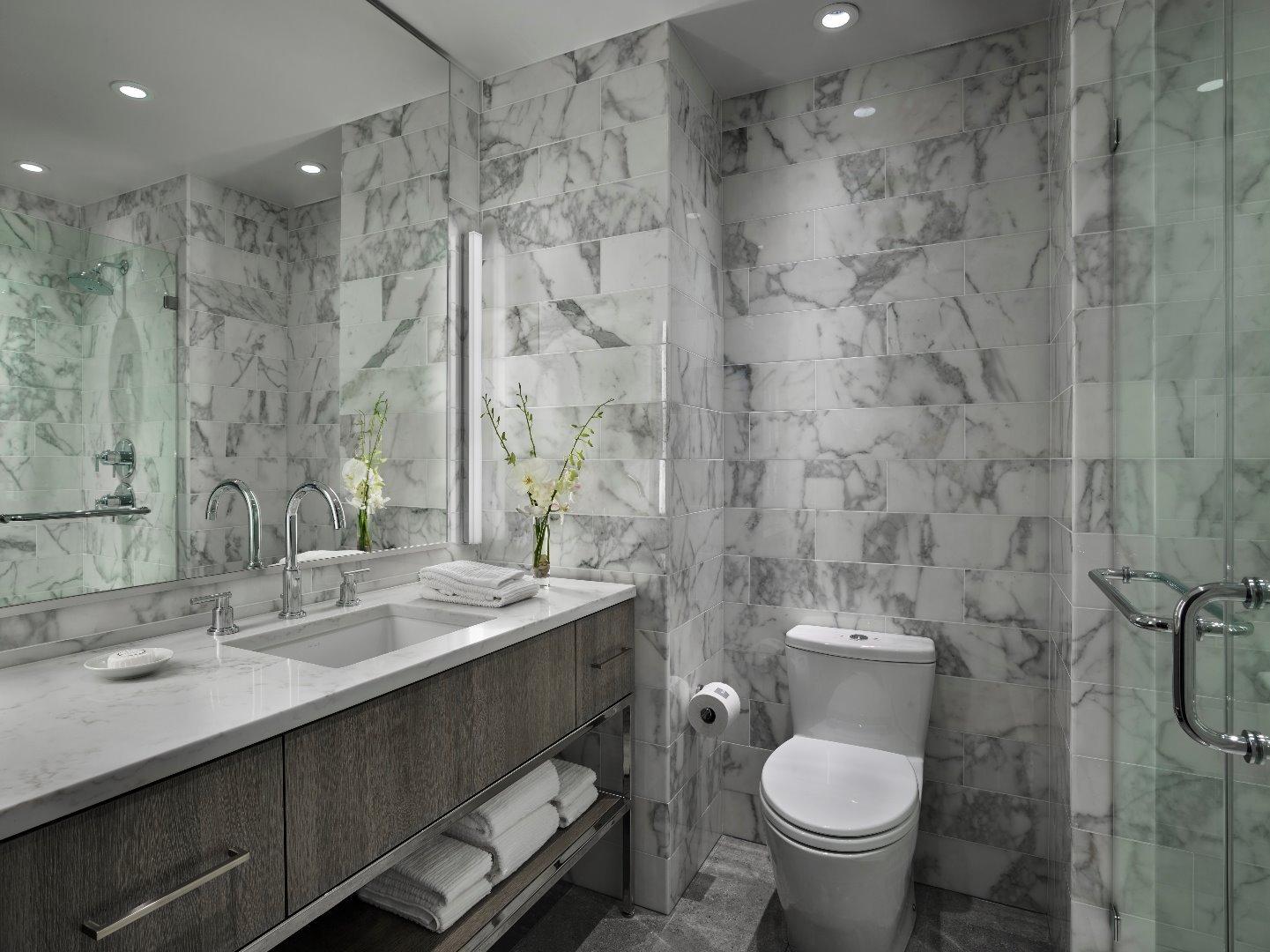 Bathroom at AKA White House, Centre, Washington DC - Citybase Apartments