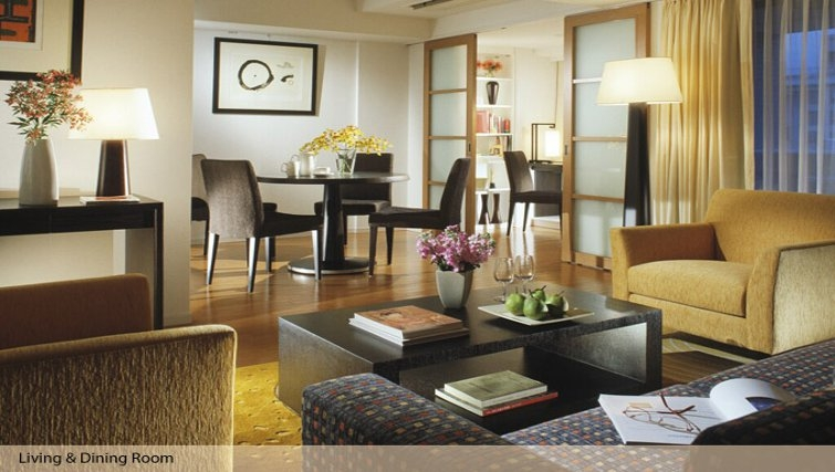 Lovely living area in Oakwood Residence Azabujyuban Tokyo - Citybase Apartments