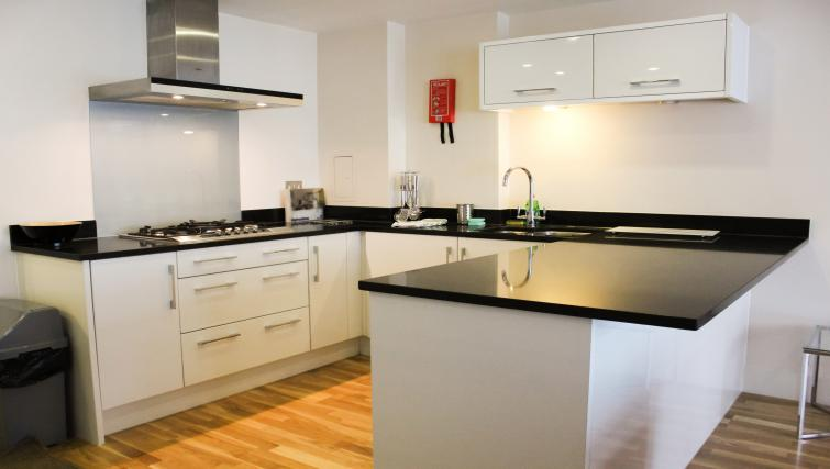 Kitchen space at Flying Butler Westrovia Apartments - Citybase Apartments