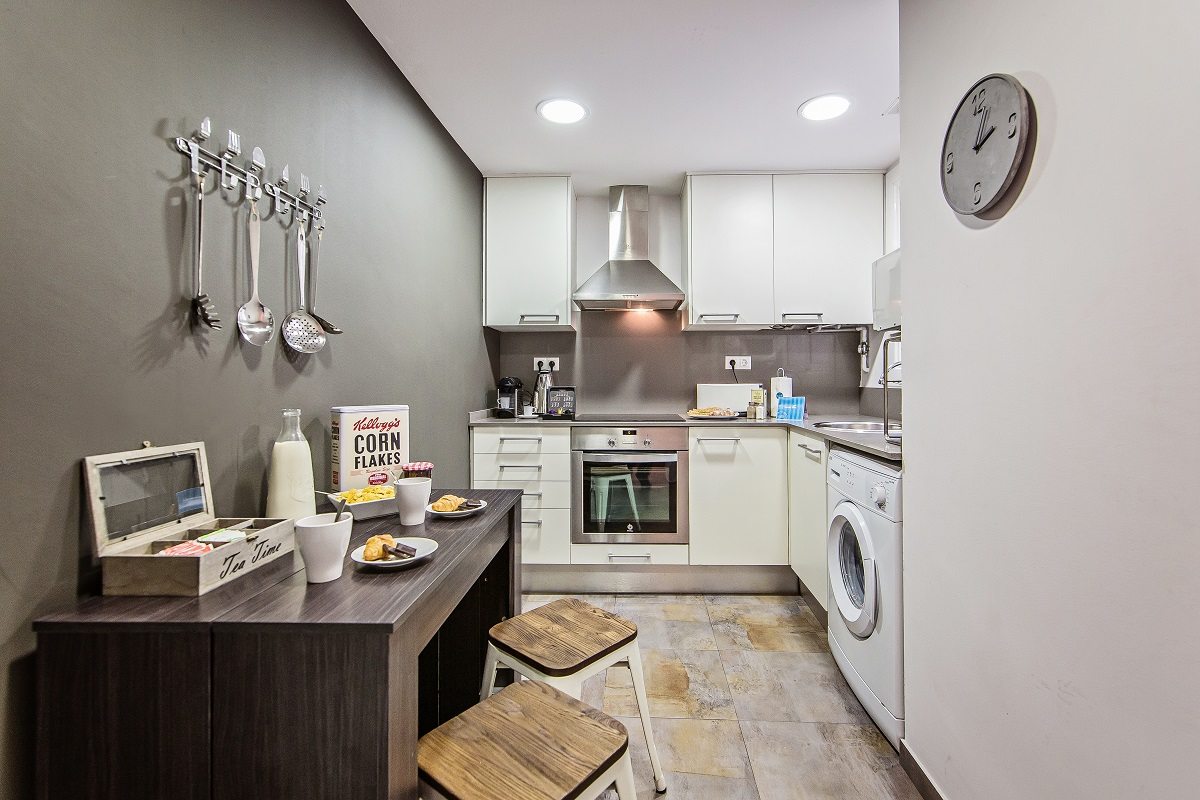 Kitchen at Diagonal Fransesc Macia Apartment - Citybase Apartments