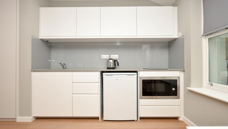 Kitchen at Warren Street Serviced Apartment - Citybase Apartments