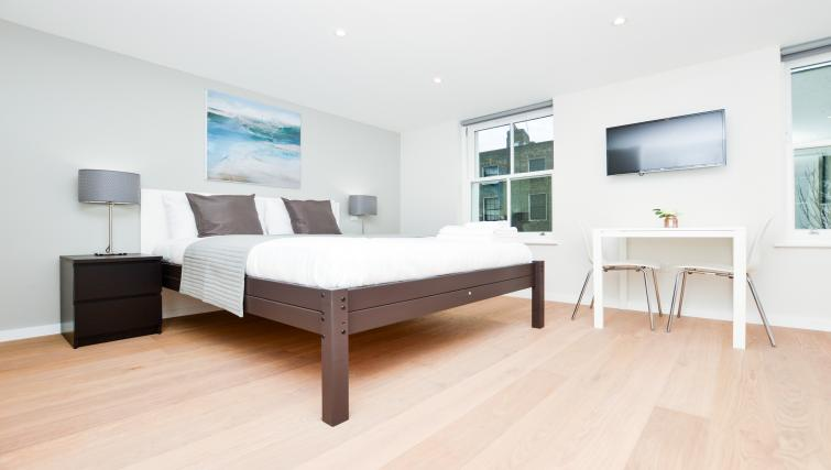 Bedroom at Warren Street Serviced Apartment - Citybase Apartments