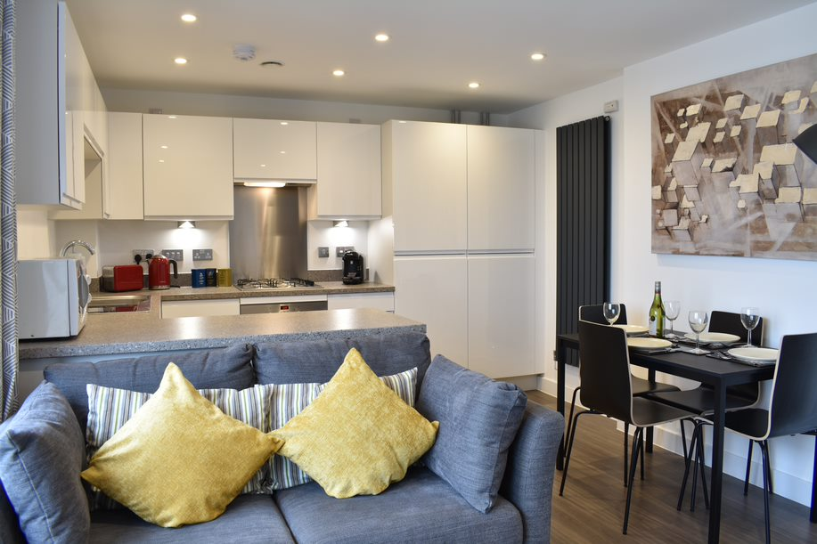 Living area at Duke of Wellington Apartment - Citybase Apartments
