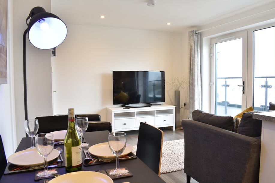 Dining area at Duke of Wellington Apartment - Citybase Apartments