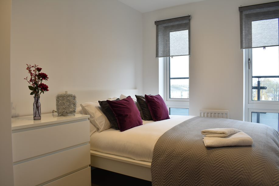 Second double bedroom at Duke of Wellington Apartment - Citybase Apartments